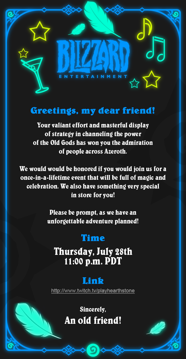 Hearthstone-Einladung
