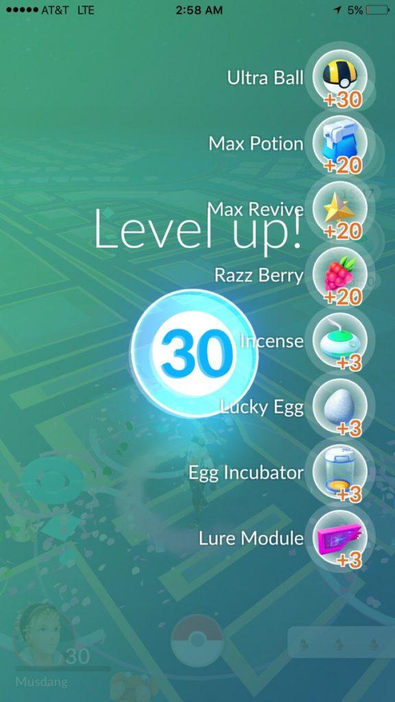 Pokémon GO Level-UP Belohnungen