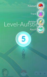 Pokémon GO Level Up Belohnunge Gegenstände Items