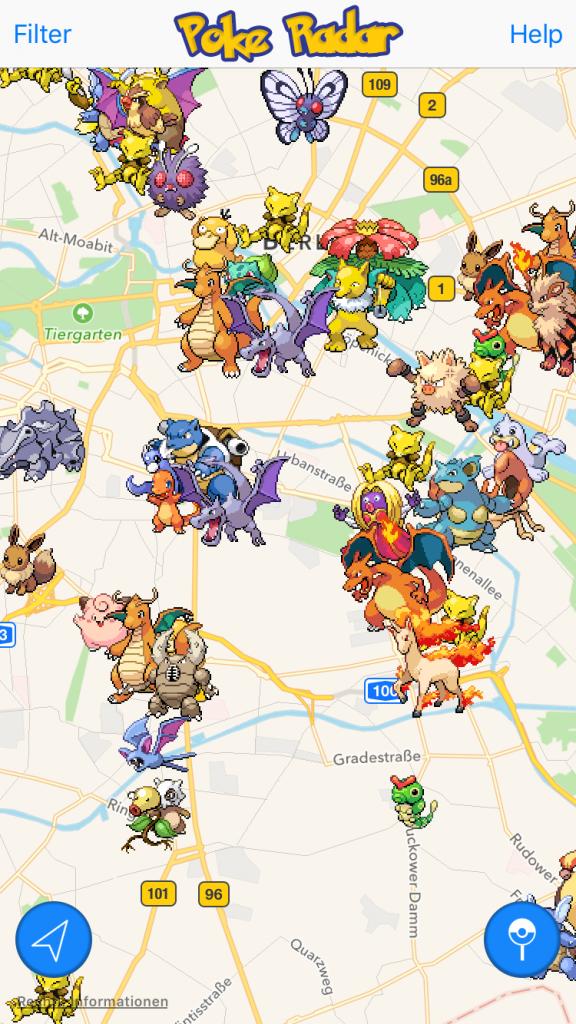 Pokémon GO Karte öffentlich teilen sozial