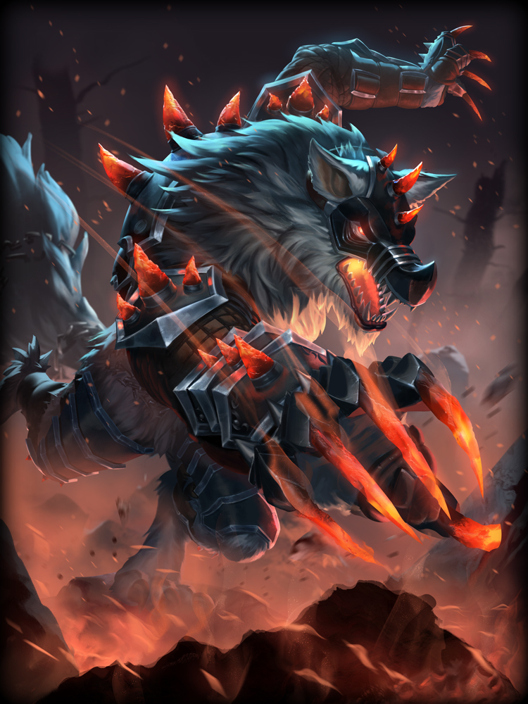 Smite God Card Iron Maw Fenrir