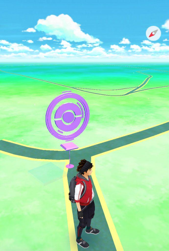 Pokemon GO Stop benutzt Karte markiert