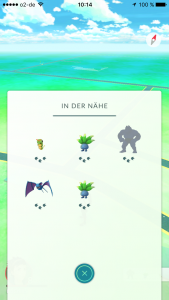 Pokémon GO Nearby Bug Fehler Glitch