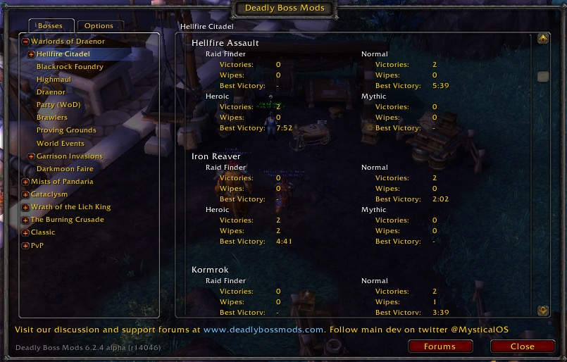 world of warcraft wow dbm