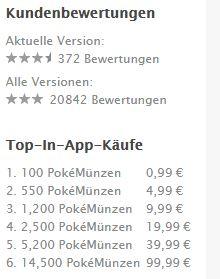 Pokemon GO Rezensionen app Store