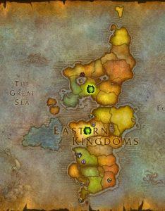 WoW Invasion Map Eastern Kingdoms