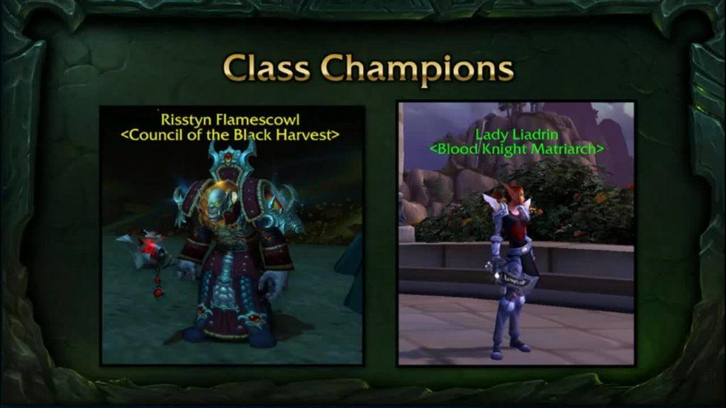 WoW Legion Class Champions
