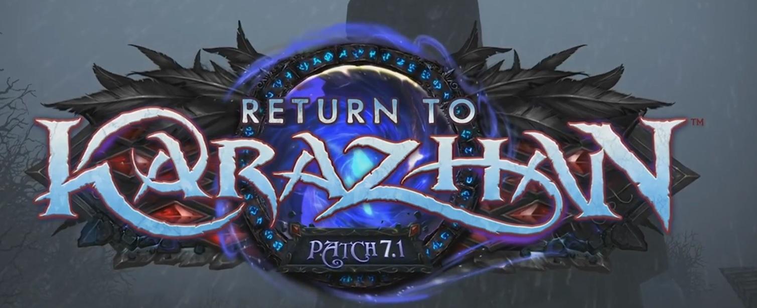 WoW Legion Return to Karazhan Logo
