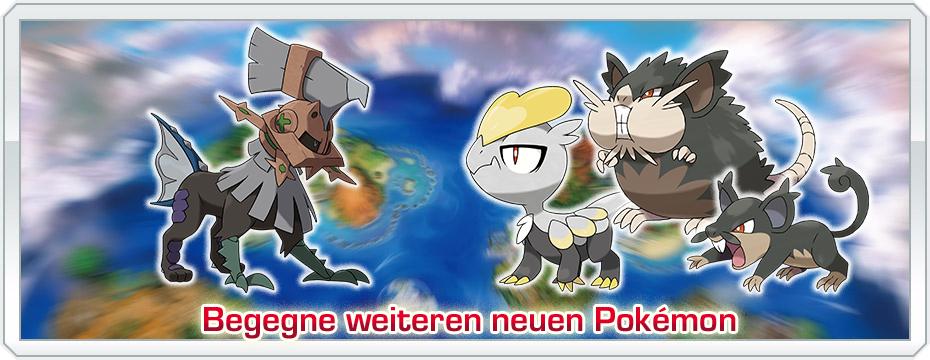 Pokémon Sonne und Mond Arten