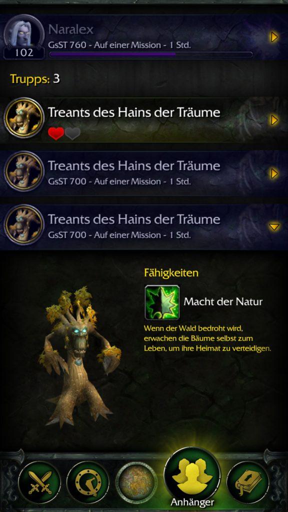 World of Warcraft Legion Treants App Companion