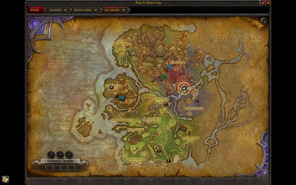 WoW Legion Dreadroot Map