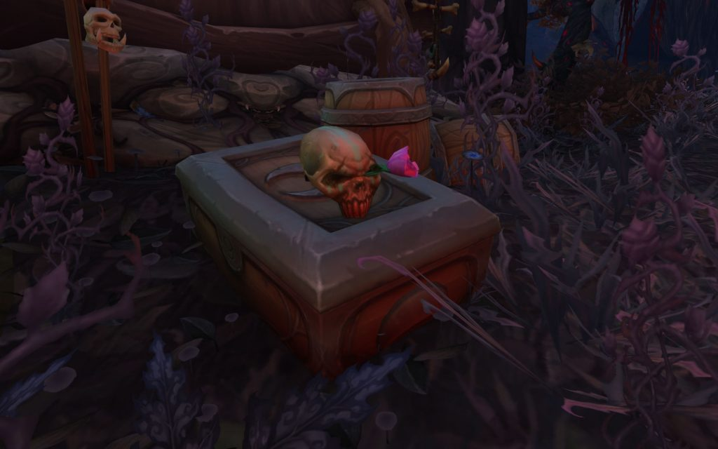 WoW Legion Dreadroot Skull and Rose