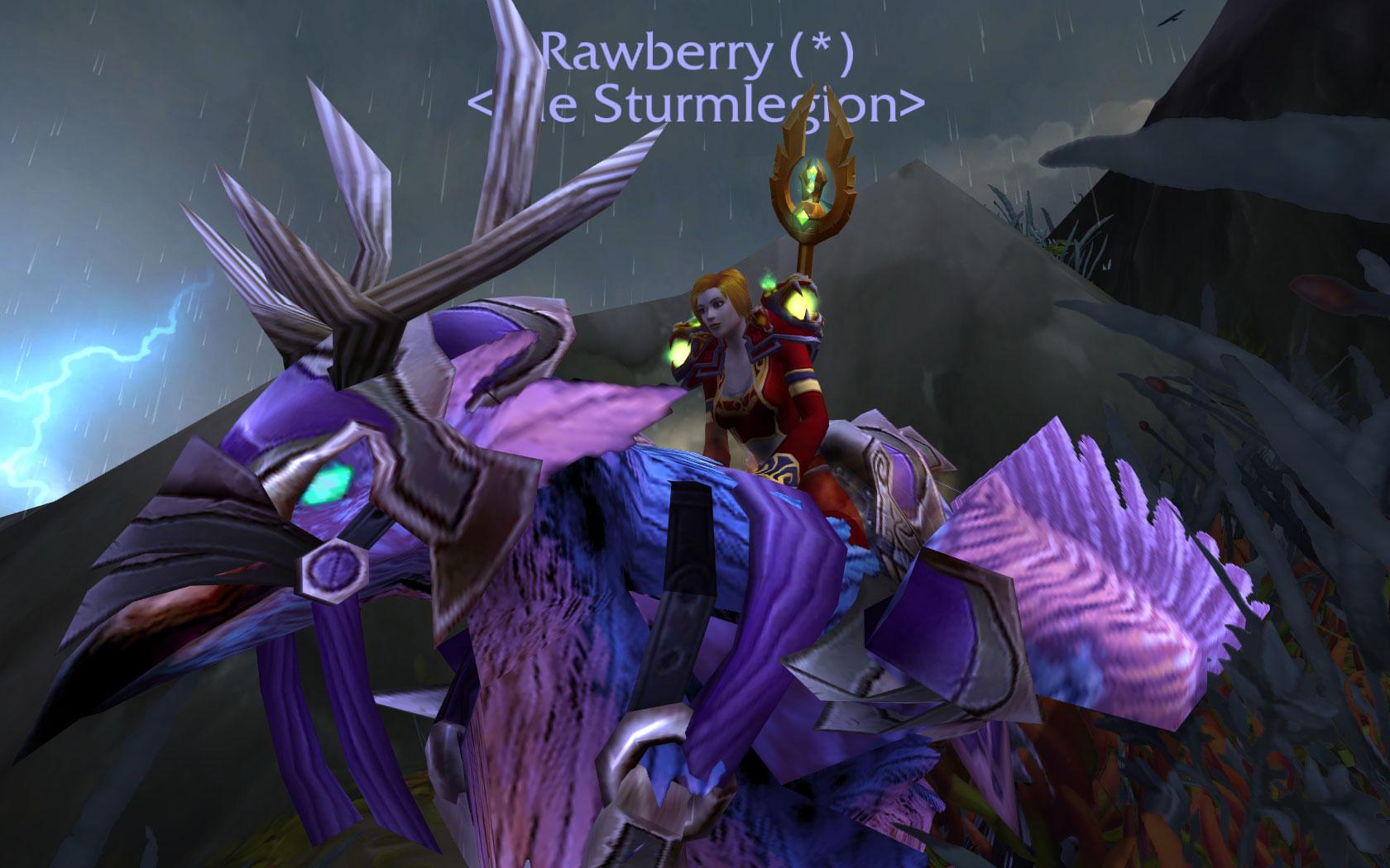 WoW Legion Hippogryph Rawberry