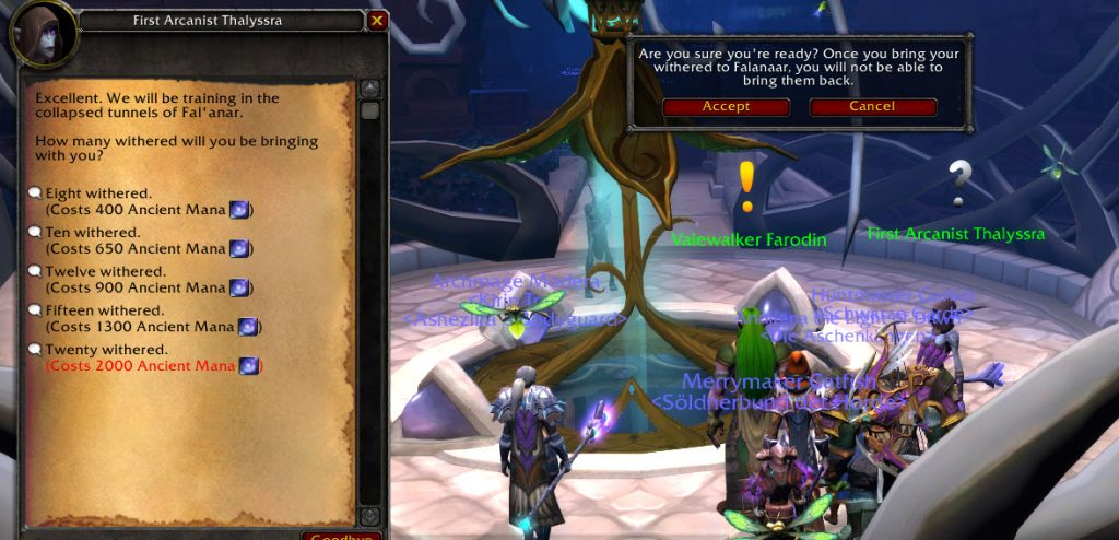 WoW Legion Withered Cost