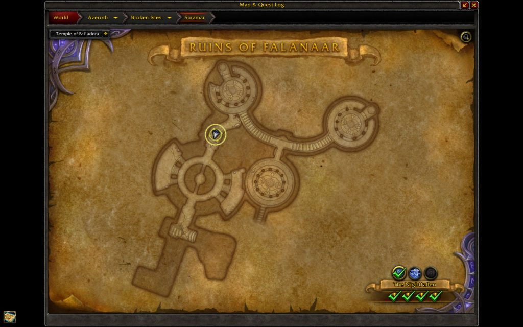 WoW Legion Withered Map