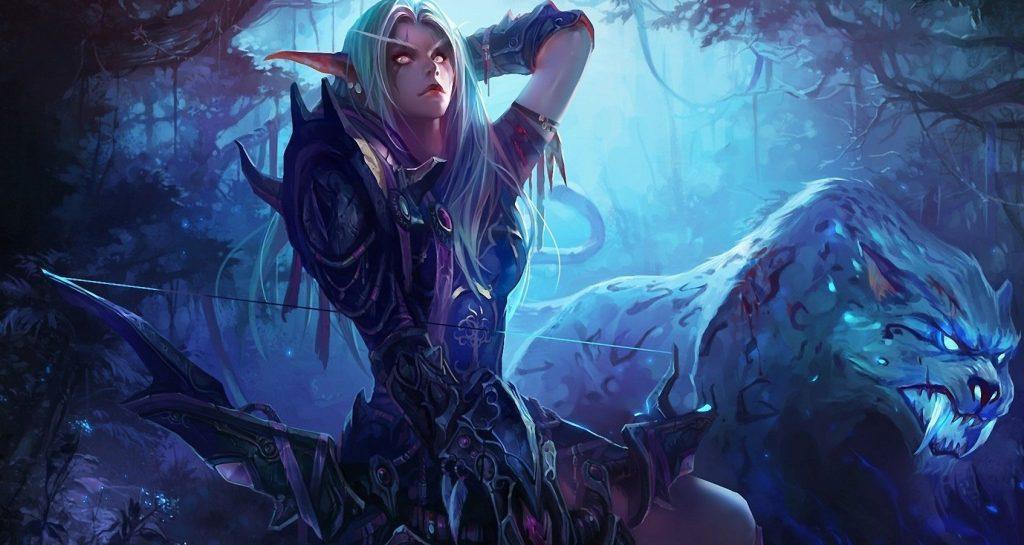 World of Warcraft Nightelf Hunter Chenbo Artwork