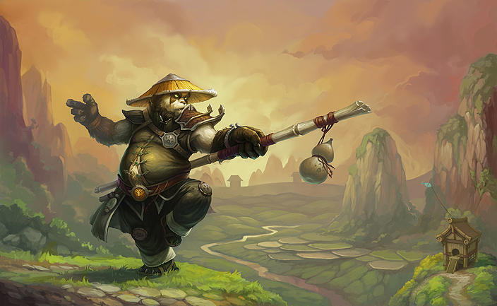 World of Warcraft Pandaren Monk Artwork