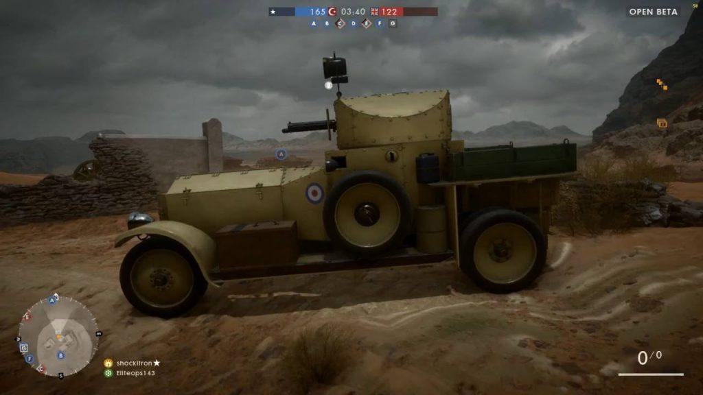 Battlefield 1 gepanzertes Auto