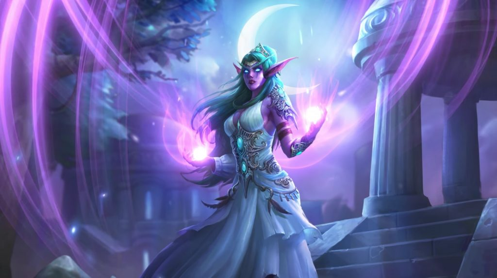 Hearthstone Tyrande Hero Artwork