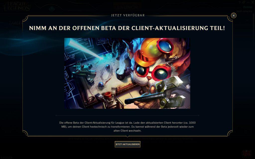 League of Legends Beta Client