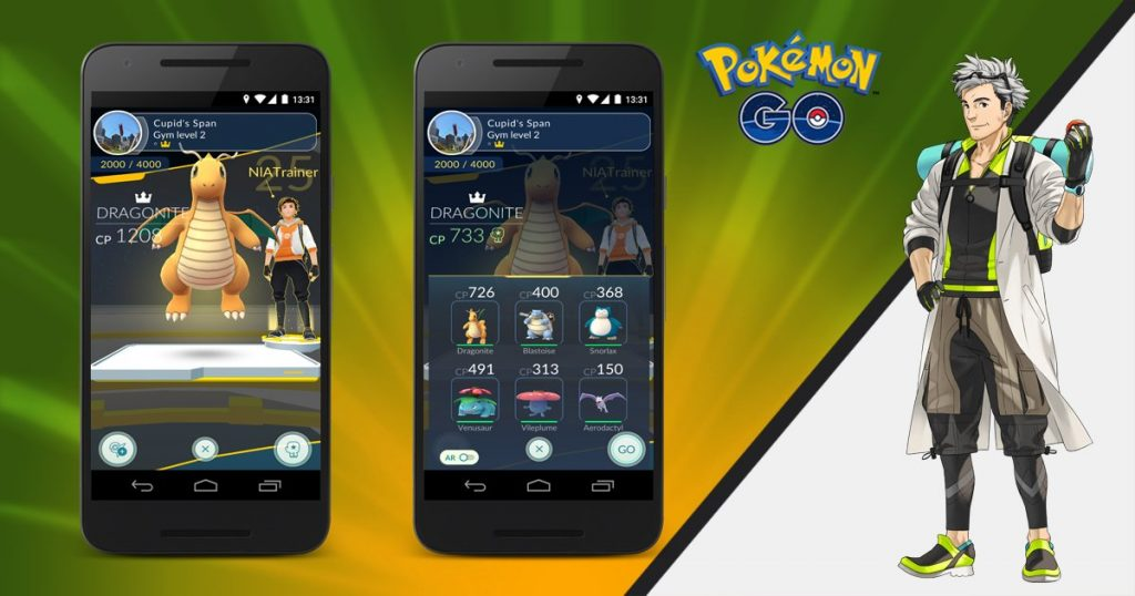 Pokémon GO Arena Trainieren Patch Teams