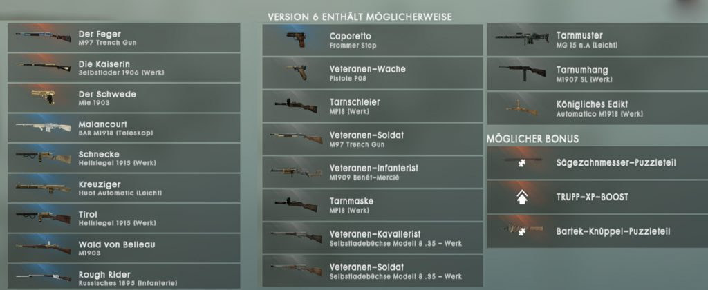 BF 1 Revision 6 Loot