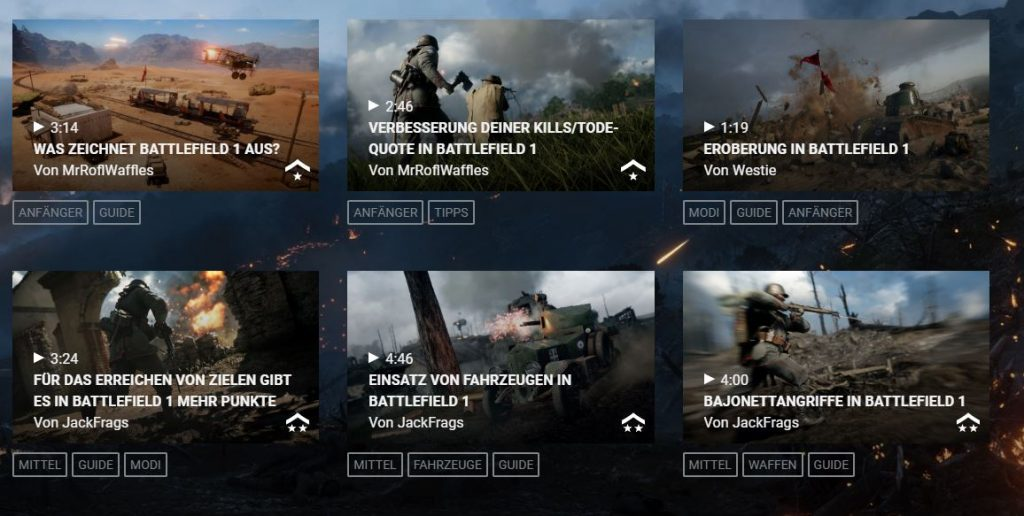 BF1 Boot Camp Online Videos