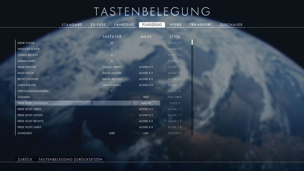 Battlefield 1 Tastaturbelegung
