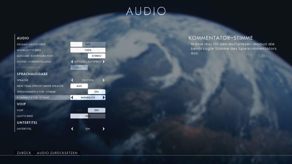 Battlefield 1 Kommentator Stimme wechseln