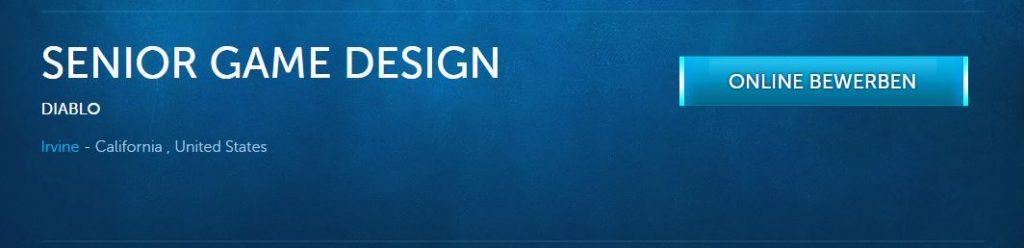 Diablo 3 Job Game Design
