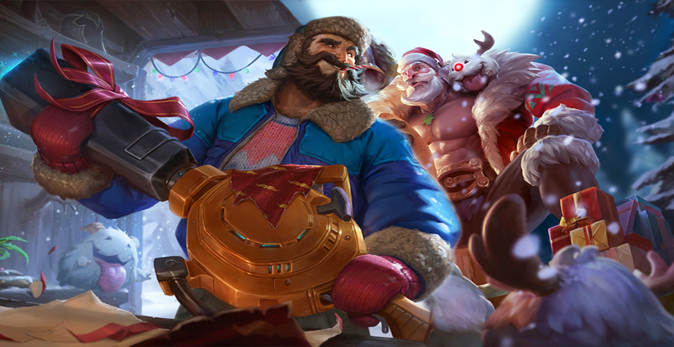 League of Legends Weihnachten Skins Braum Graves