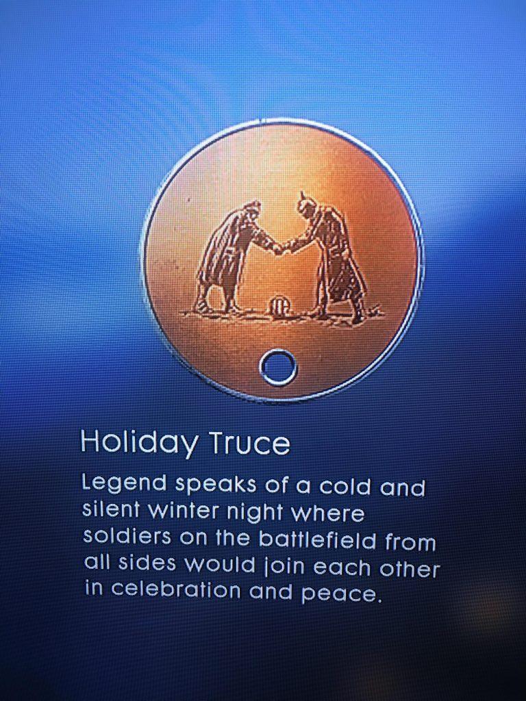 Battlefield 1 Medaille Weihnachtsfrieden
