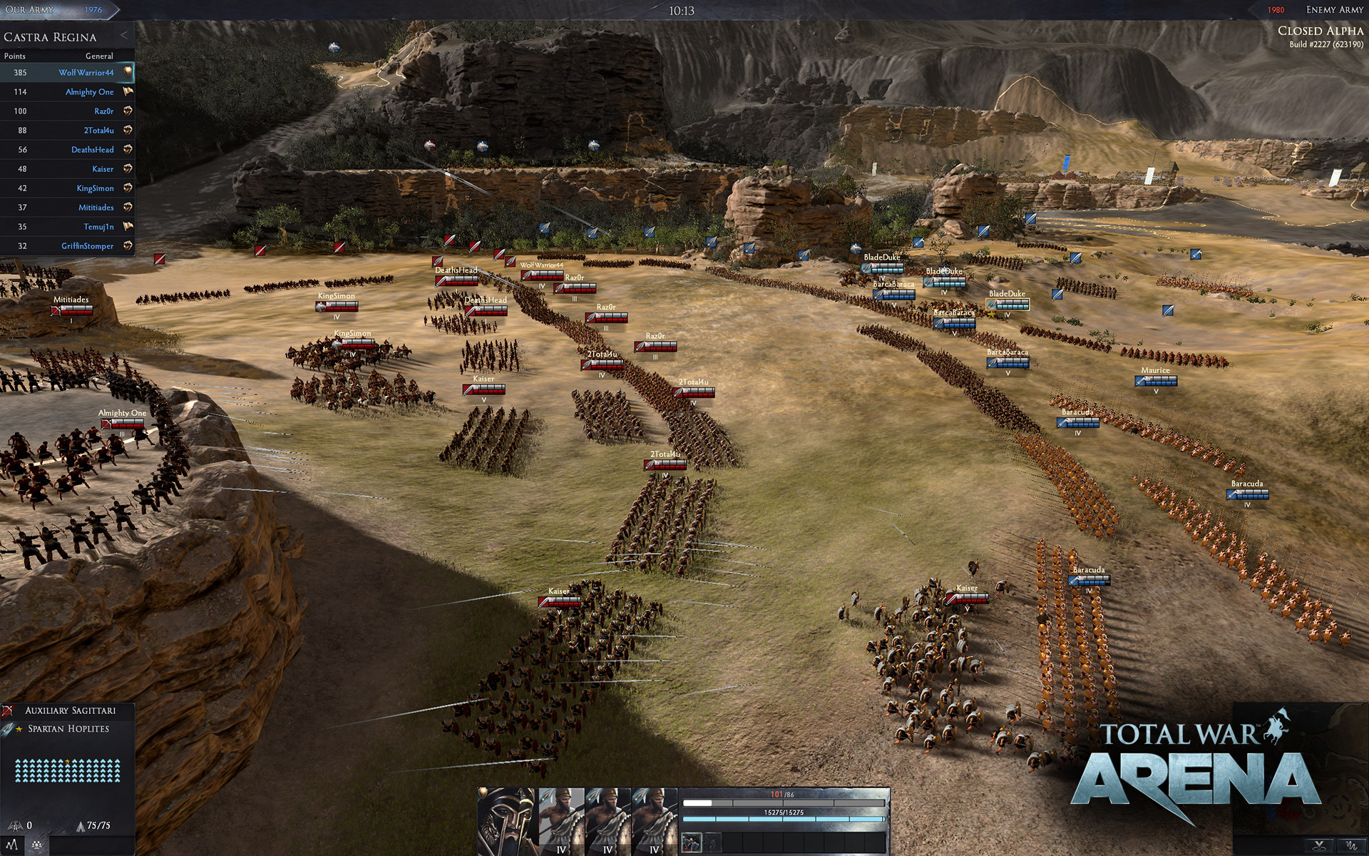 total war arena alpha screen