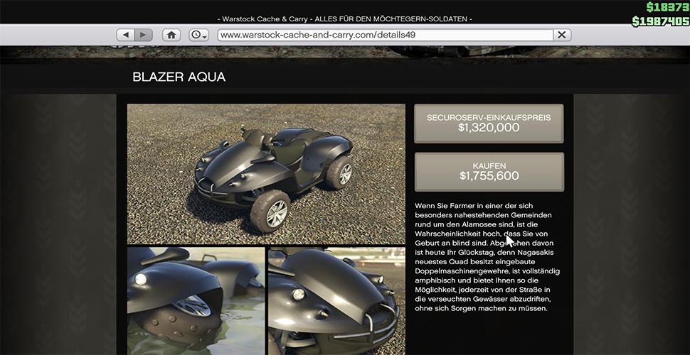 GTA 5 Online Blazer Aqua