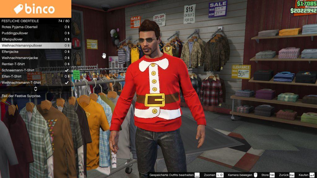 GTA 5 Online Christmas Pullover
