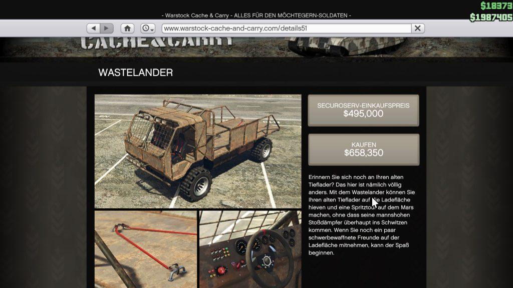 GTA 5 Online Spezialfahrzeug