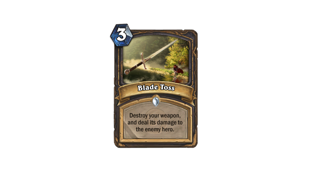 Hearthstone Max Weapons Blade Toss