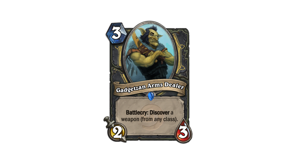 Hearthstone Max Weapons Gadgetzan Arms Dealer