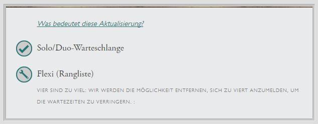League of legends Warteschlange Patchnotes Anzeige