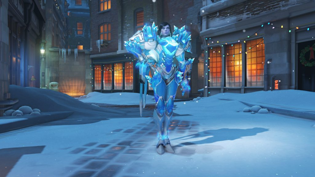 overwatch skin christmas epic pharah frostbite