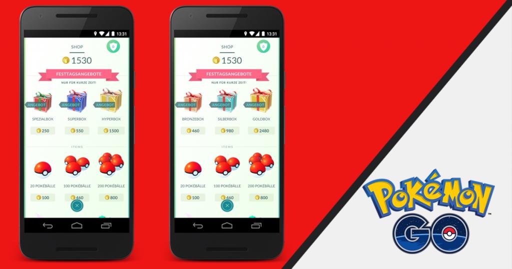 Pokémon GO Weihnachts-Event Festtagsangebote