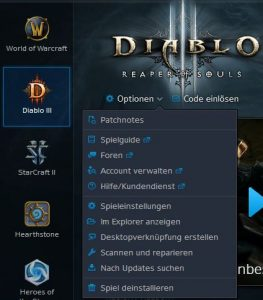 Diablo 3 Optionen