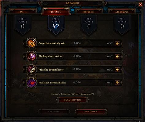 Diablo 3 Paragonpunkte