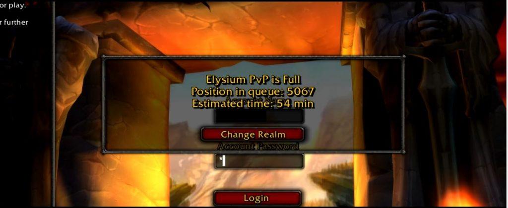 WoW Warteschlange Elysium PvP