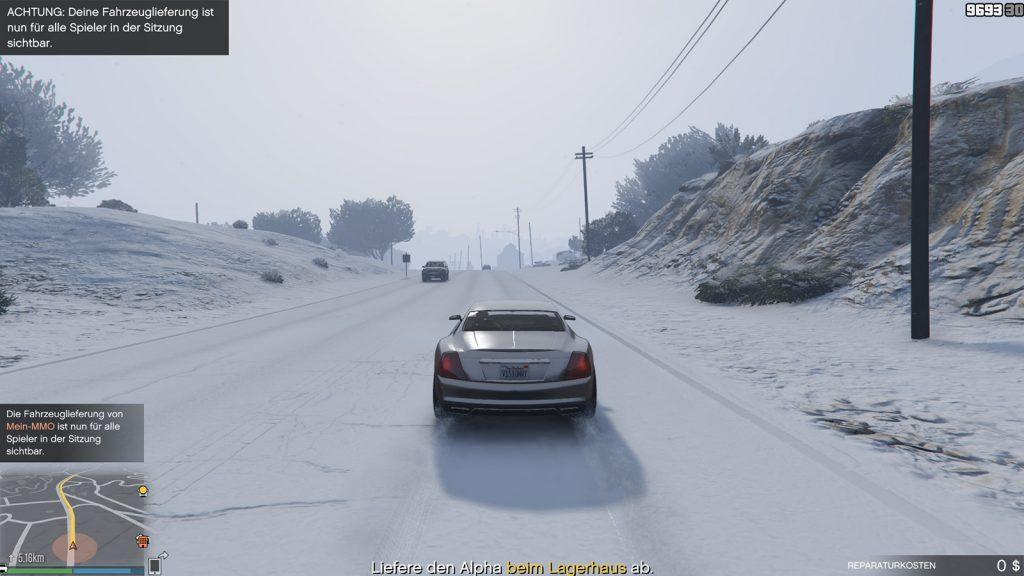 GTA 5 Online Schnee Fahrzeug