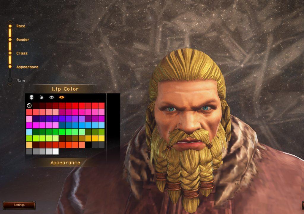 Guardians of Ember Charakter Anpassung Gesicht