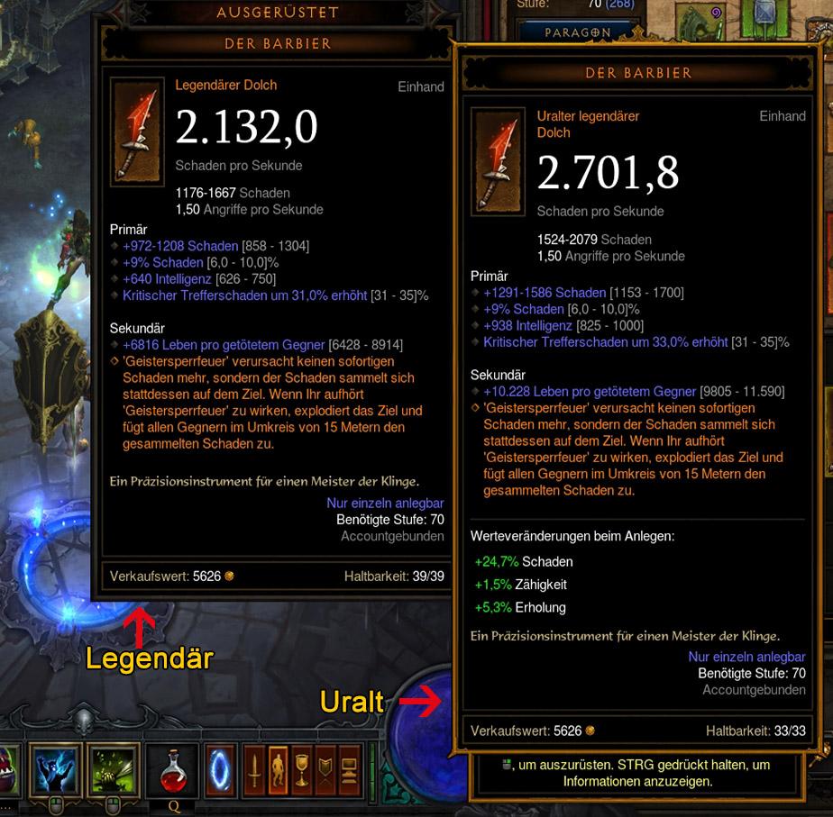 Diablo 3 Uralte Gegenstände erkennen