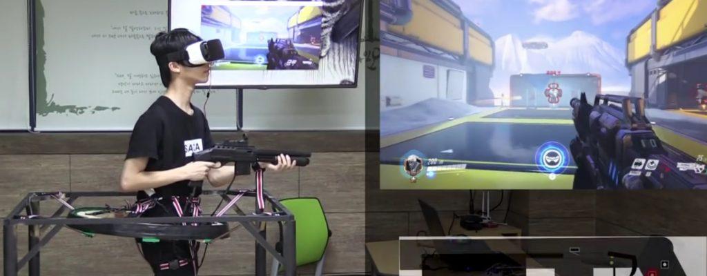 Overwatch VR: Schräge Maschine lässt Spieler als Soldier: 76 spielen