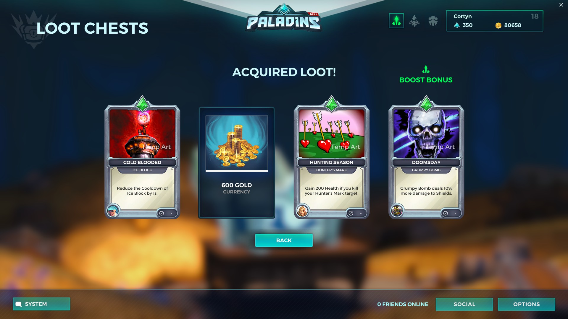 Paladins Lootchest Content
