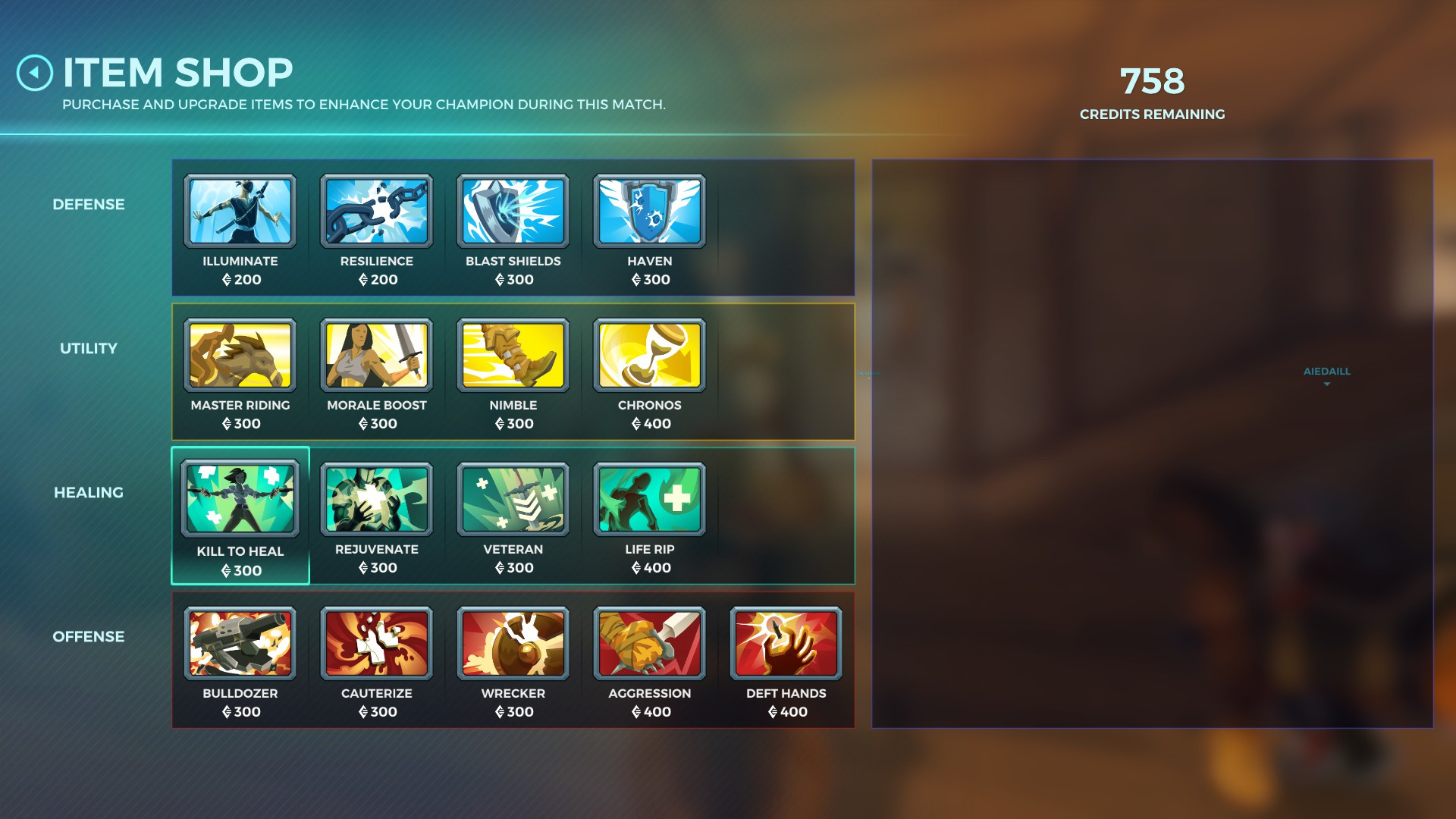 Paladins Shop Upgrades